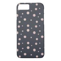 FAUX glitter rose gold blush dotty pattern iPhone 7 Case