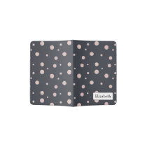 FAUX glitter rose gold blush dotty pattern Passport Holder