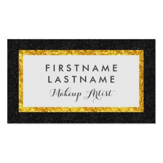 Faux Glitter Stunning Black & Gold Business Card