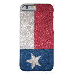 Faux Glitter Texas flag Barely There iPhone 6 Case