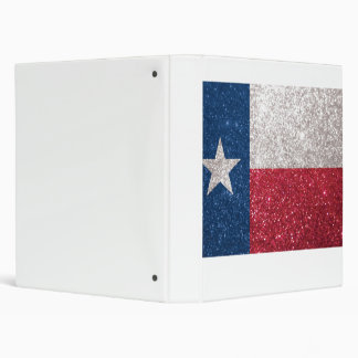 Faux Glitter Texas flag Binder