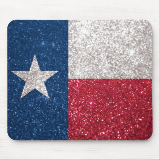 Faux Glitter Texas flag Mouse Pad