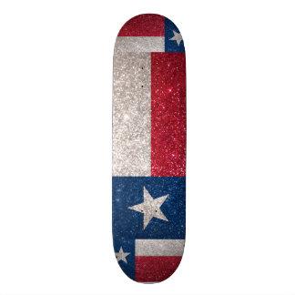 Faux Glitter Texas flag Skateboard