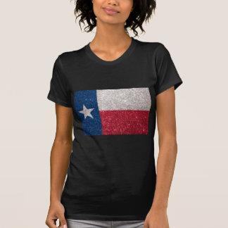 Faux Glitter Texas flag T-Shirt
