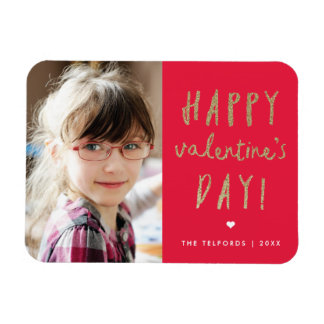 Faux glitter valentines day magnet