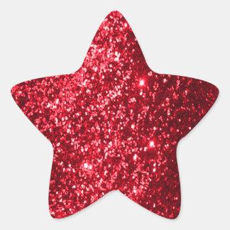 Faux Glittery Red Star Sticker