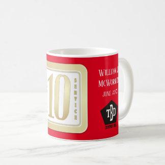 FAUX GOLD 10 year employee service award Coffee Mug