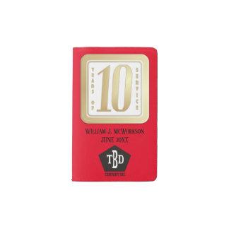 FAUX GOLD 10 year employee service award Pocket Moleskine Notebook