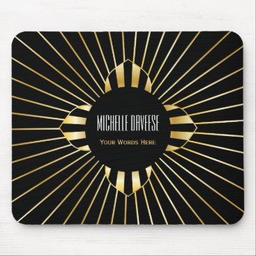 Faux Gold and Black Business   Mousepad