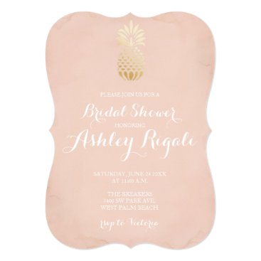Toddler & Baby themed Faux Gold and Blush Bridal or Baby Shower Invite