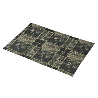 Faux Gold and Granite Placemat Cloth Place Mat