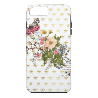 faux gold,bees,floral,whimsical,chic,dandy,cute,pa iPhone 7 plus case