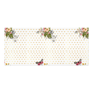 faux gold,bees,floral,whimsical,chic,dandy,cute,pa rack card