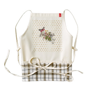 faux gold,bees,floral,whimsical,chic,dandy,cute,pa zazzle HEART apron