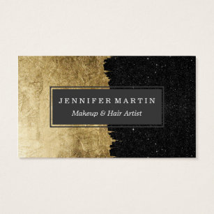 Christmas business cards templates zazzle faux gold black starry night brushstrokes business card cheaphphosting Choice Image