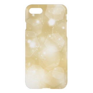 Faux gold bokeh bling hipster clear modern custom iPhone 7 case