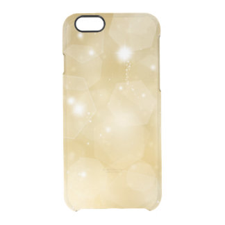 Faux gold bokeh bling hipster clear modern custom uncommon clearly™ deflector iPhone 6 case