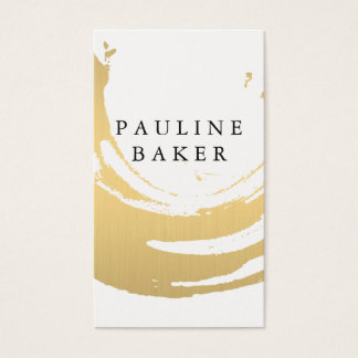 Faux Gold Brushed Business Card