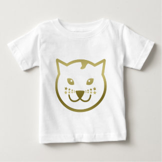 Faux Gold Cat Face - Custom background color Shirt