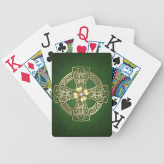 Faux Gold Celtic Cross Playing Cards