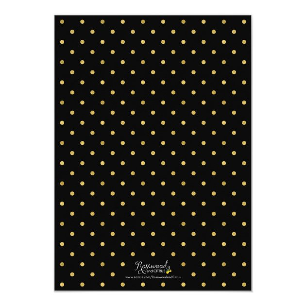 Faux Gold Chevron Class of 2017 Graduation Party Card (back side)