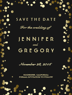 gold save the date postcards zazzle