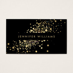 Faux Gold Confetti Dots Event Planner, Stylist Business Card at Zazzle