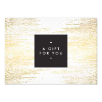 Faux Gold Confetti Dots Pattern Modern Gift Card