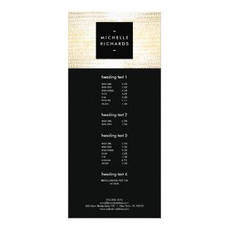 Faux Gold Confetti Dots Pattern Modern Rack Card