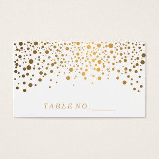 Faux Gold Confetti Dots Place Cards