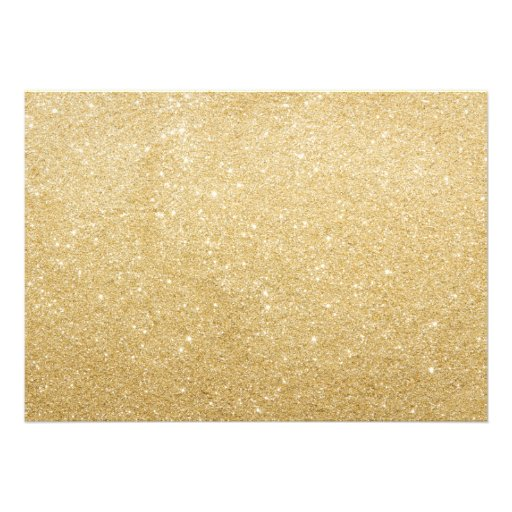 Faux Gold Confetti Engagement Party Invite (back side)