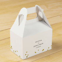 Faux Gold Confetti | Modern Wedding Favor Box