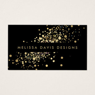 Music business cards 8000 music business card templates faux gold confetti on black modern business card cheaphphosting Images
