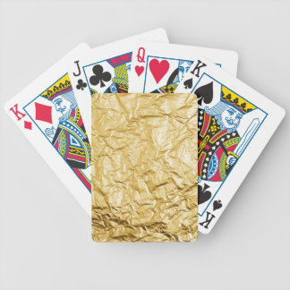 Faux Gold Crumpled Metallic Foil Effect Bicycle Playing Cards