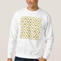 faux gold,diamond,pattern,checker,art deco,retro,c sweatshirt