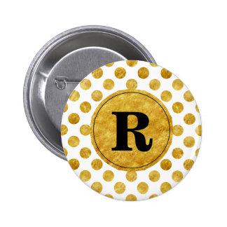 Faux gold dots pattern button