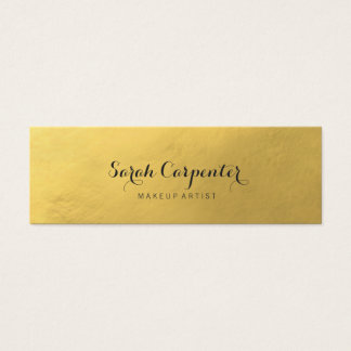 faux gold | elegant chic mini business card
