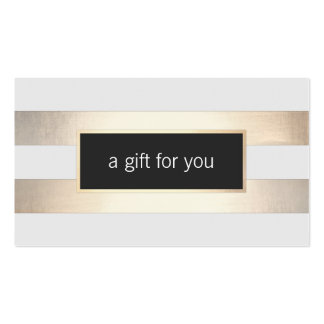 Faux Gold Foil and Black Striped Retail Gift Card Double-Sided Standard Business Cards (Pack Of 100)
