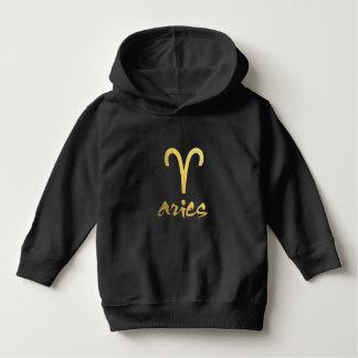 Faux Gold Foil Aries Zodiac Symbol Tee Shirt