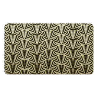 Faux Gold Foil Black Circle Fan Pattern Double-Sided Standard Business Cards (Pack Of 100)