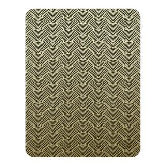 Faux Gold Foil Black Circle Fan Pattern Card