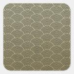 Faux Gold Foil Black Circle Fan Pattern Sticker