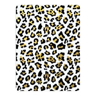 Faux Gold Foil Black Leopard Print Pattern Invites
