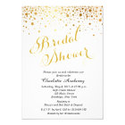 Faux Gold Foil Bridal Shower Invitation