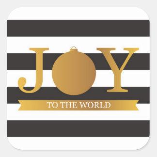 Faux Gold Foil Christmas Stickers