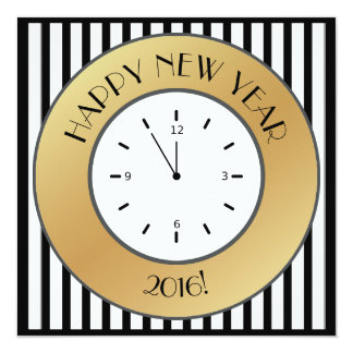 New Year 2016 Eve Party Invitations & Announcements   Zazzle
