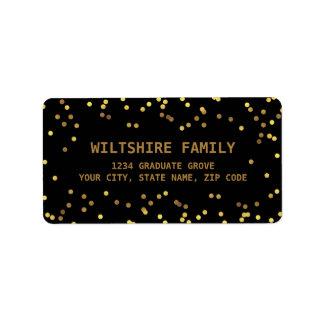 Faux Gold Foil Confetti Black Label