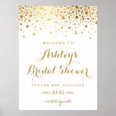 Faux Gold Foil Confetti Bridal Shower Poster at Zazzle