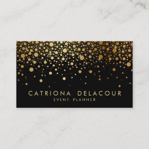 Gold foil business cards templates zazzle faux gold foil confetti business card black colourmoves