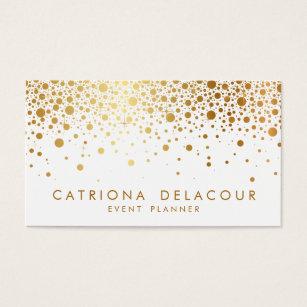 Gold foil business cards templates zazzle faux gold foil confetti business card white colourmoves